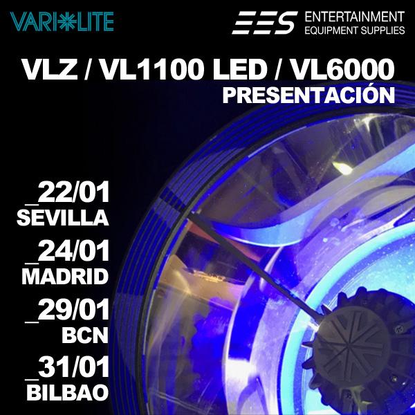 Presentación VLZ, VL1100 LED y VL6000 de Vari-Lite