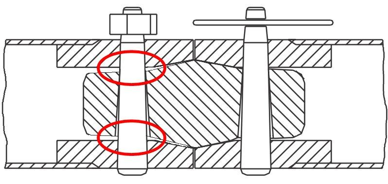 Truss de Prolyte (derecha) conectado a otro truss (izquierda)