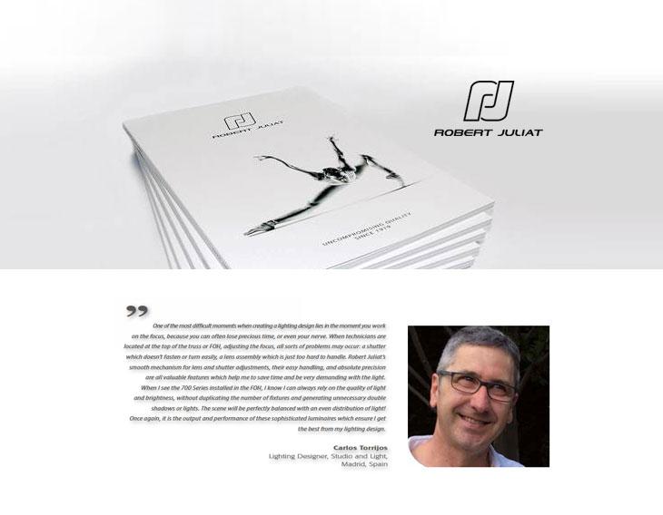 Robert Juliat presenta su nuevo catálogo con Carlos Torrijo
