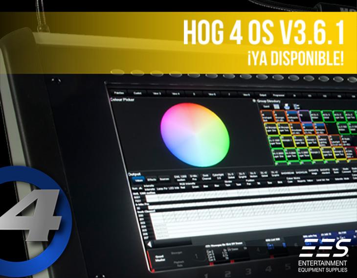 Nuevo Software V3.6.1 para HOG 4