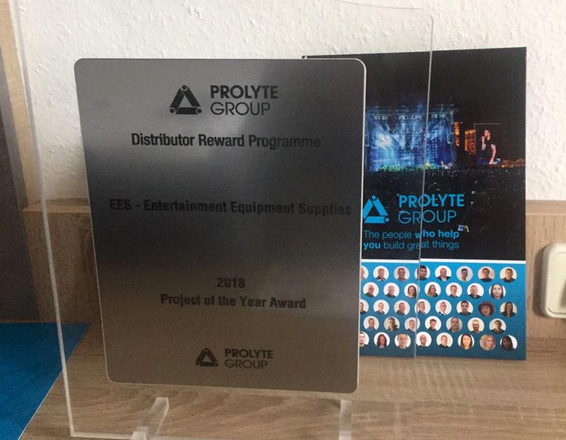 Recibimos el premio al Proyecto del Año de manos de Prolyte