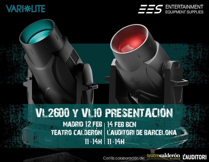 Presentación gama VL2600 y VL10 BeamWash