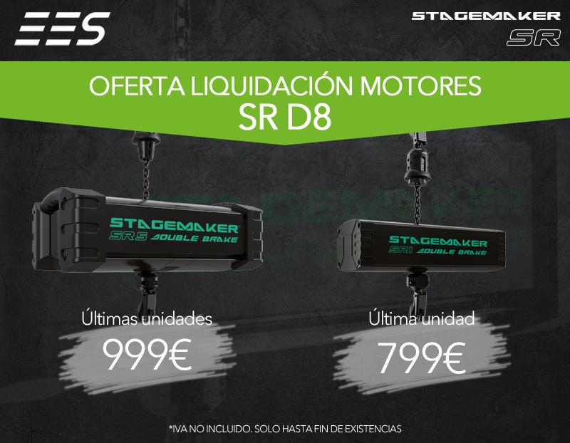 Oferta liquidación motores Stagemaker SR D8