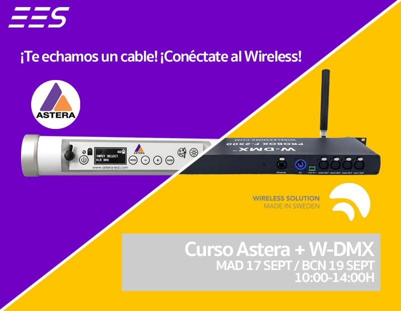 ¡Te echamos un cable! ¡Conéctate a nuestro curso de Astera + W-DMX!