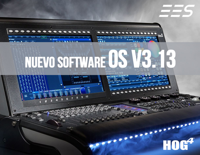 Nueva versión de software Hog 4 OS v3.13 ya disponible