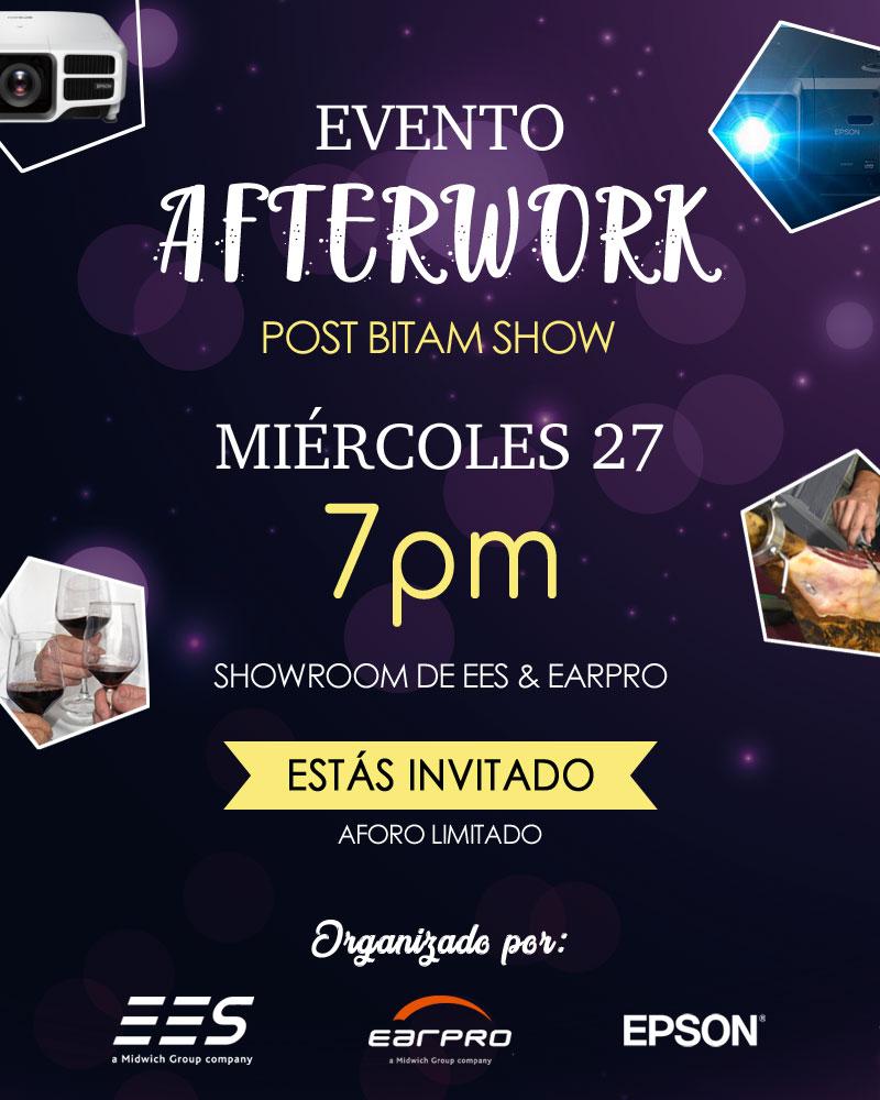 Os damos la bienvenida al primer Evento Afterwork organizado por EES y Earpro